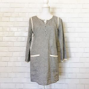J.Crew Linen Blend Striped Pocket Tunic Cover Up